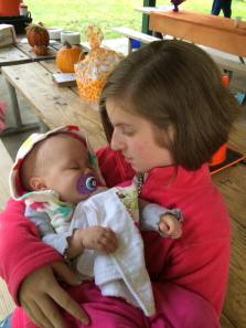 Annie with Charlotte, baby love